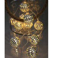 Led Silver Balls with warm white
